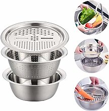KKPLZZ Colander with Bowl, Stainless Steel