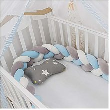 KKUFOO Baby Bed Bumper Newborn Braided Crib