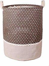 KKUFOO Cotton linen Fabric Collapsible storage