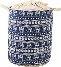 KKUFOO Cotton linen Fabric Collapsible storage