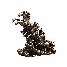 KKUUNXU Pure copper horse galloping backgammon