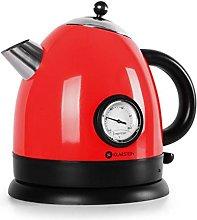 Klarstein 10018896 1.5L 2200W Red Electric Kettle