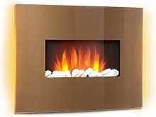Klarstein Curved Copper L & F - Electric Fireplace