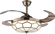 KLDDE Ceiling fan with adjustable LED lights and