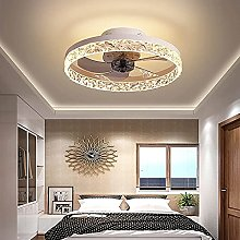 KLDDE Ceiling Fans with LED Lamp Fan Roof with