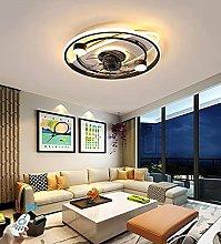 KLDDE LED ceiling fan with lamp, modern fan