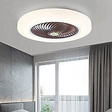 KLDDE LED ceiling fan with lighting, 36W invisible