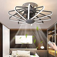 KLDDE Modern Adjustable LED Lighting Roofing Fan