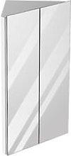 kleankin 78x45cm Corner Bathroom Mirror Cabinet w/