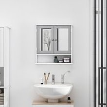 kleankin Mirror Cabinet Wall Mounted with Double
