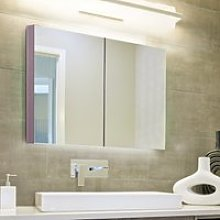 Kleankin Wall-Mount Bathroom Mirrored Cabinet,