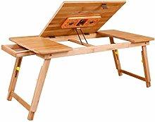 KLEDDP Laptop Bed Table Desk Bamboo Foldable