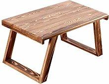 KLEDDP Laptop Bed Table Desk Solid Wood Breakfast