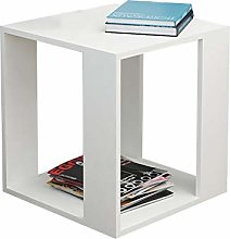 KLEDDP Small Square Side End Wooden Table Modern