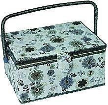 Kleiber Large Rectangular Sewing Basket-Floral