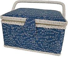 Kleiber Rectangular Sewing Basket Wood/Fabric
