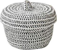 Klein Storage Basket with Lid in Natural Cotton