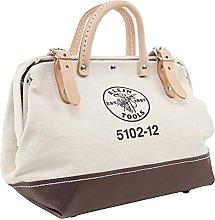 Klein Tools 5102-12 Canvas Tool Bag, White/Tan,