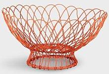 &klevering - Orange Twist Wire Basket - metal |