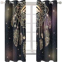 KLily Black Dream Feather Curtain Christmas