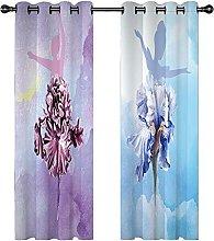 KLily Colorful Ballerina Girl Curtains Fantasy