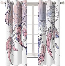KLily White Fantasy Feather 3D Curtain Digital