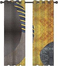 KLily Yellow Wavy Curtains Thicken Shading