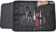 klinkamz 16Pcs Garden Bonsai Tool Set Carbon Steel