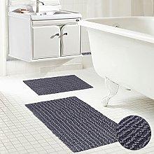 KLLKR Bathroom Rug Set 2 Piece Grey Non Slip
