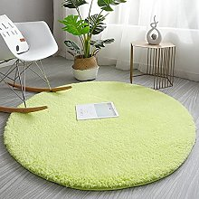 KLLKR Round Area Rugs Grass Rug for Bedroom Super