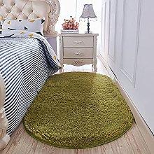 KLLKR Shaggy Area Rug for Bedroom Grass Rug Green