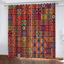 Kllomm Blackout Curtains Bohemian pattern Window