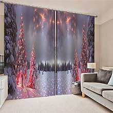 Kllomm Blackout Curtains Snow mangrove Living room