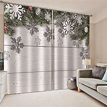 Kllomm Blackout Curtains Snowflakes Living room