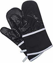 Klmnop Long Kitchen Silicone Oven Gloves Heat
