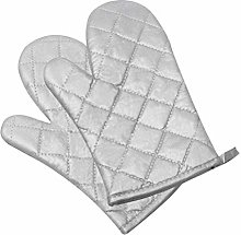 Klmnop Oven Gloves Silver-Plated Kitchen