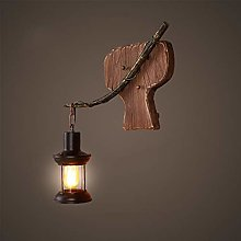 KMMK Creative Wall Lighting- Wall Lamp Wooden Art