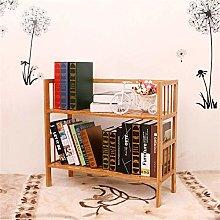 KMMK Racks Simple Bookshelf Bookcase Bamboo Small