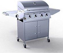KMS - HEATSURE Stainless Steel 4 Burner Gas Grill