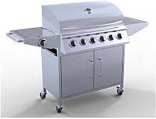KMS - HEATSURE Stainless Steel 6 Burner Gas Grill