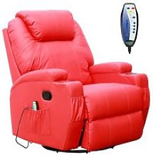 KMS - WestWood Massage Leather Sofa Electric 01 Red