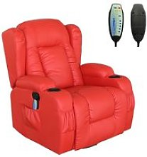 KMS - WestWood Massage Leather Sofa MLS-02 Red