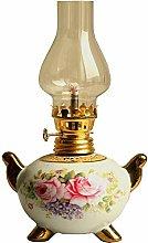 KMYX Antique Kerosene Lamp Ceramic Lamp Body With