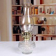 KMYX Glass Kerosene Lamp Nostalgic Horse Lantern
