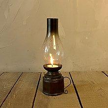 KMYX Retro Kerosene Lamp Candlestick Resin
