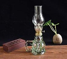 KMYX Traditional Glass Oil Lamp Kerosene Lamp