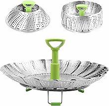 KNDJSPR Vegetable Steamer Basket, Stainless Steel