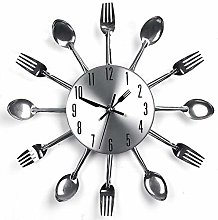 Knife and Fork Wall Clock - Decorative Clock, 3D