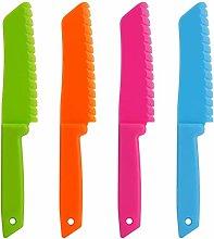 Knife for Kids, Ylinova 4 Piece Plastic Kitchen
