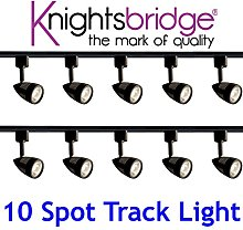 Knightsbridge Black Track Lighting Set Kit 10x